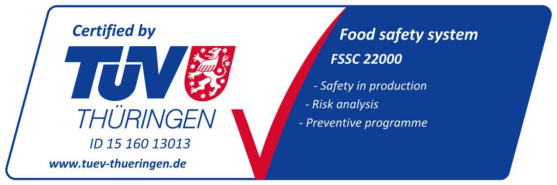 Certificat FSSC TUV